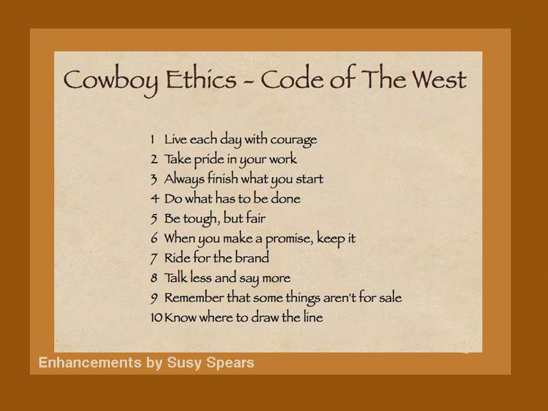 Line Drawing Ethics : Cowboy ethics conversations with a